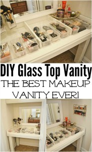 Glass made vanity